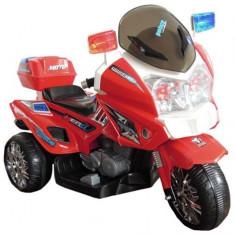Motocicleta electrica de politie, rosu