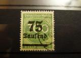 Germania - Reich, 75 000/300 M supratipar, 1923, Stampilat!
