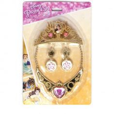 Set accesorii Disney Princess, Belle, bijuterii si diadema