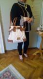 Poseta dama Louis Vuitton rafinata, Alb, Mare