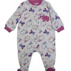 Salopeta / Pijama bebe cu ursuleti Z22, 1-2 ani, 1-3 luni, 3-6 luni, Roz