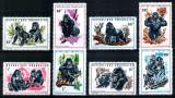 Ruanda Rwanda 1970, Mi #400-407 A**, fauna, gorile, MNH, cota 11 €!, Nestampilat