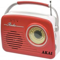 Radio Akai APR-11R, USB, SD card, Rosu