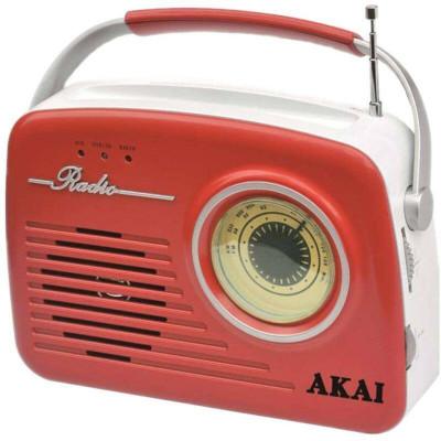 Radio Akai APR-11R, USB, SD card, Rosu foto
