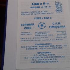 program    Corvinul 2005  Hd.  -  CFR  Timisoara