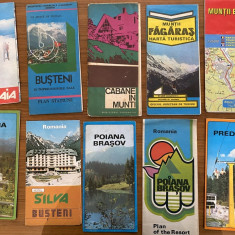 Ghiduri de calatorie turistice vechi harti Romania Sinaia Busteni Azuga Predeal