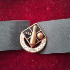 1966 Insigna Campionatul mondial de popice Buc.