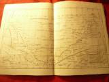 Harta istorica Dacia sec.I-II en dupa geograful Ptolemeu .dim.= 31,5x 21cm
