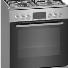 Aragaz Bosch HXN39AD50, 4 arzatoare, Mixt, Aprindere electrica, Grill, Display LED, Clasa A, 60 cm, Inox