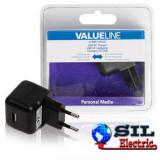Incarcator USB A mama - AC, negru