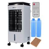 Racitor aer 4 in 1, portabil, 80W, umidificare, purificare, ventilare, 4l, telecomanda, 3 moduri