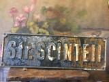 Decor / Design / Vintage - Veche placa stradala turnata / strada Scinteii !