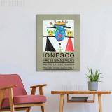 Litografie Afiș Eugen Ionescu / Eugene Ionesco- FIAC 1984, RARITATE!