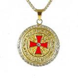 Cumpara ieftin Pandantiv Crucea cavalerilor Templieri auriu - MM743