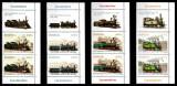 Romania 2011, LP 1912 + 1912 b, Locomotive, straifuri cu viniete sus, MNH!