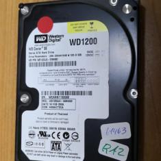 HDD PC Western Digitel 120GB Sata defect #61463RAZ, 100-199 GB, Western Digital