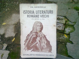 ISTORIA LITERATURII ROMANE VECHI CLASA 6-A - GH. NEDIOGLU