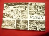 2 Ilustrate Pitesti circulate 1967- Sfatul Popular Regional si 5 vederi
