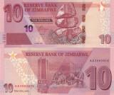 Zimbabwe 10 Dollars 2020 UNC