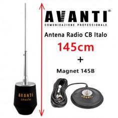 Set Antena Radio CB AVANTI Italo cu Magnet Avanti 145B