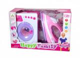 Set CADOU pentru fetite - Masina de spalat de jucarie cu sunete si lumini + Fier de calcat!