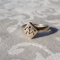 INEL argint HOPI AMERINDIAN TRIBAL vintage VECHI simbol TRADITIONAL rar ARIZONA