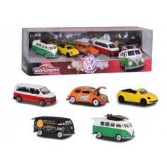 Set 5 masinute Majorette Volkswagen