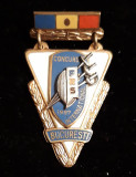 Cumpara ieftin FRS Concursul international Bucuresti 1957  Insigna