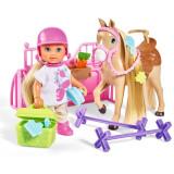 Cumpara ieftin Papusa Simba Evi Love 12 cm Holiday Horse cu calut si accesorii