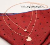 Cumpara ieftin Colier Cu Lantisor Din Argint -- Inima Pink --ARG177C