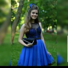 Rochie albastră ,mărimea S-M , purtată o singură dată
