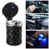 Scrumiera auto LED prindere 2 in 1, in grila de ventilatie sau in suportul de pahar