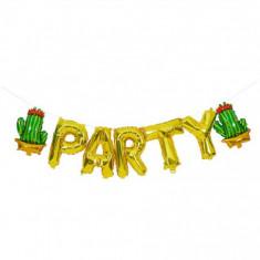 Balon folie PARTY cu model de ananas pentru petreceri, auriu