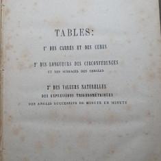 manual de matematica,geometrie si trigonometrie in limba franceza din anul 1871