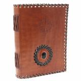 Agenda / Jurnal cu coperti din piele si piatra Onix - Busola (17x12 cm)
