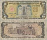1988 , 20 pesos oro ( P-120c.3 ) - Republica Dominicană