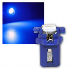 Led bec 1 smd 5050 soclu T5 B8.3D pentru bord de culoare albastru