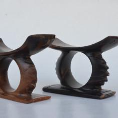 Lot 2 inele pentru servetele din lemn exotic