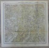 Ramnicul-Valcea si Curtea de Arges// harta Serviciul Geografic Armatei 1916