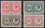 1947 Romania - Serie neuzata porto Coroana si Regele Mihai, perforate la mijloc