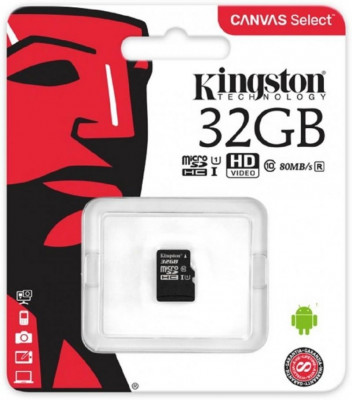 Kingston microSDHC 32Gb clasa 10 cu adaptor SD foto