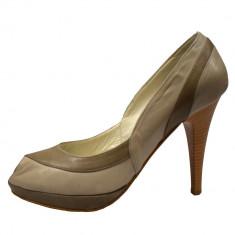Pantofi dama, din piele naturala, marca Endican, 1978-3, bej
