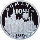 Romania 10 Lei 2015 (Castelul Peles)  Argint 31.1g/999, PROOF, KM-New UNC !!!