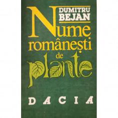 Nume romanesti de plante - Dumitru Bejan