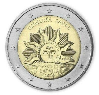 F. RAR - Letonia moneda comemorativa 2 euro 2019 - Natura - UNC foto