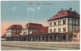 #2409 Romania, Teius carte postala circulata 1929: Gara, animat