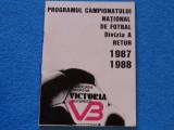 Program-caiet fotbal - VICTORIA Bucuresti (retur`87/`88)