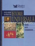 Cumpara ieftin Enciclopedie Ilustrata De Istorie Universala - Nume. Date. Evenimente