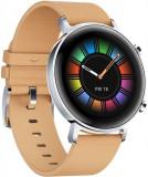 Smartwatch Huawei Watch GT 2, Procesor Kirin A1, Display 3D AMOLED HD 1.2inch, 16MB RAM, 4GB Flash, Bluetooth, GPS, Carcasa Otel, Bratara Elastomer 42
