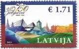 Letonia - A 750-a aniversare a orasului Jelgava, 2015 - obliterat, Istorie, Stampilat